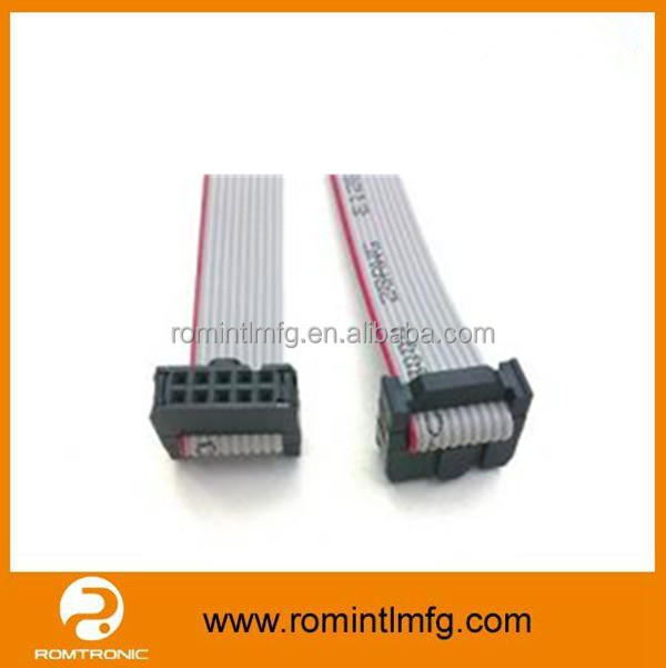 Customized 10 / 20 / 30 Pin IDC UL2651 28AWG Flat Ribbon Cable