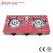 2017 fancy design type gas cooktops / cooking appliance glass gas stove JY-TG3007