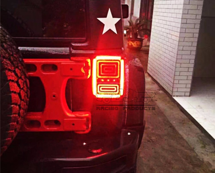 BJ-TL-02 EU LED Brake Tail Lamp Signal Running Reverse Light for Jeep Wrangler JK 07-16