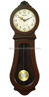 Wall Clocks For Bedroom wholesaler,Glass Wooden Pendulum Wall Clock