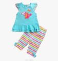 Baby summer boutique clothes set ruffle top and short pants