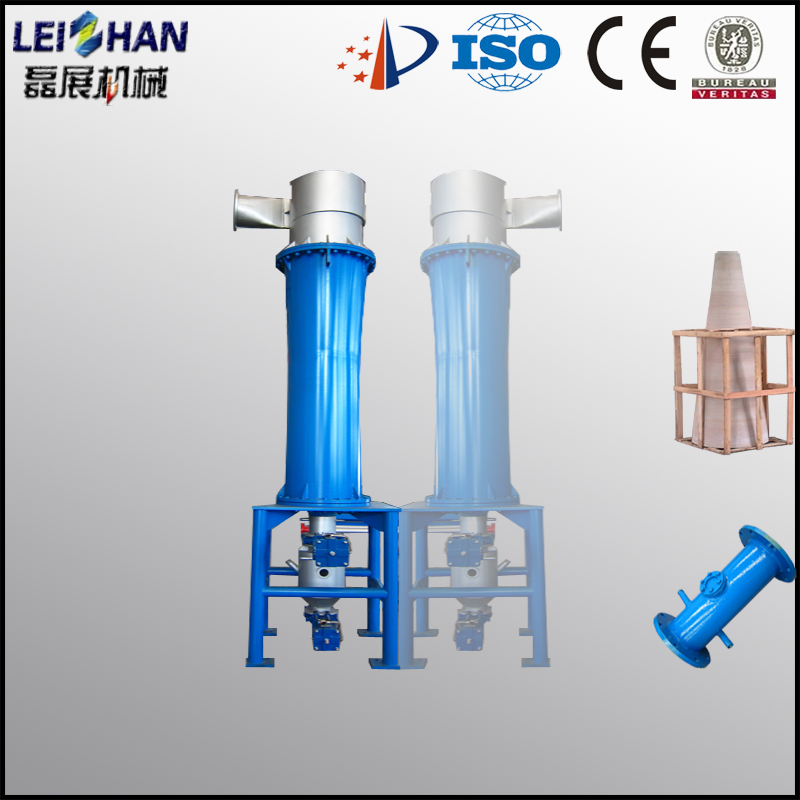 Recycled waste paper pulp machine, Centrifugal force pulp cleaner