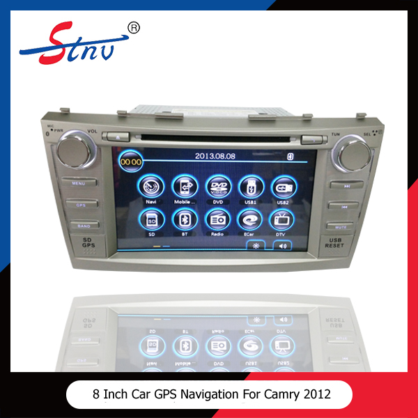 8 inch windows ce 6.0 double core for Toyota Camry 2012 car dvd gps navigation