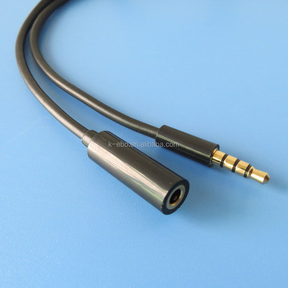 4-pole 3.5mm male to female audio extension cable