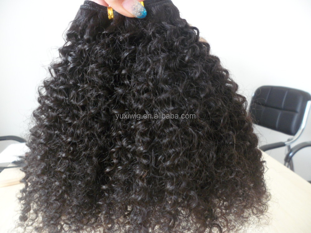 2017 factory wholesale drop shipping shoraw mongolian 4c afro kinky curly human hair weave