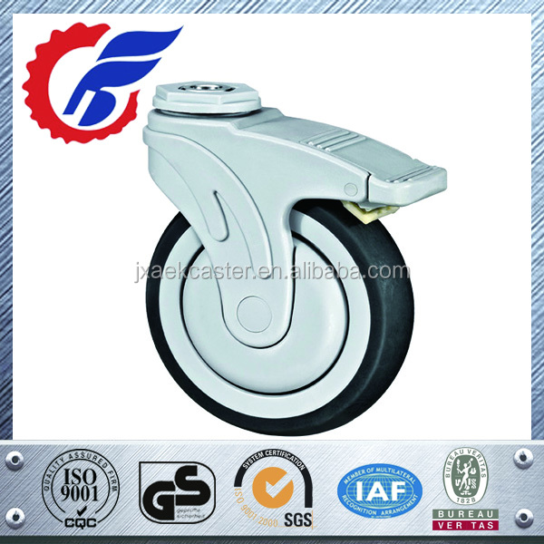 medical adjustable casters small swivel medical caster