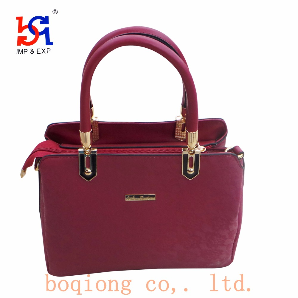 Blue&Red Recessive Decorative Pattern polyurethane Handbag Woman Bag Ladies