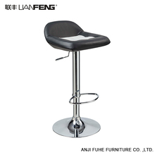 Simple fashion black swivel lift bar stool