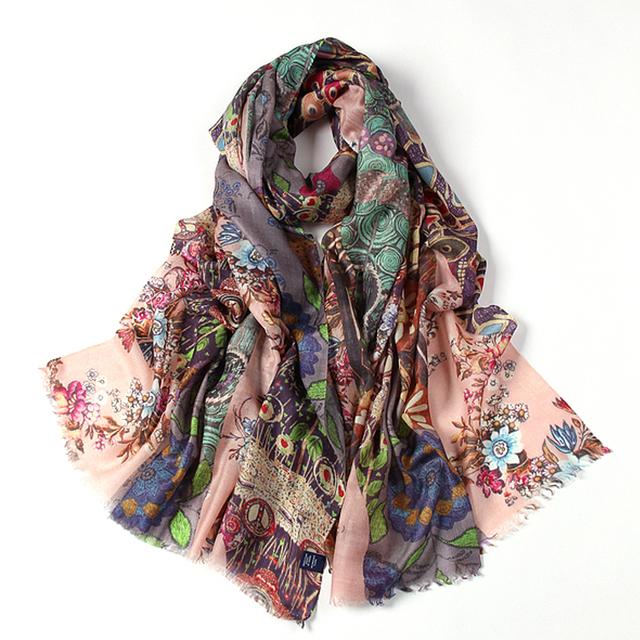 Best-selling Women Winter Warm Printed Cowl Neck Scarf Shawls