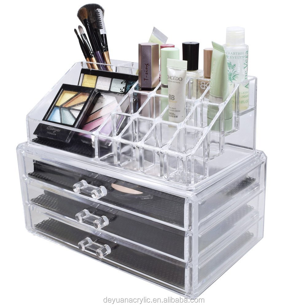 Acrylic Cosmetic Makeup Storage Display Boxes