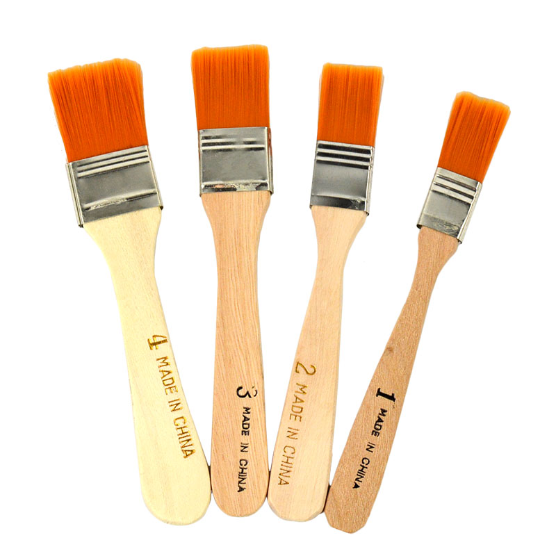 Wooden Handle Bristle Hair Paint Brush eco Painting hand tools