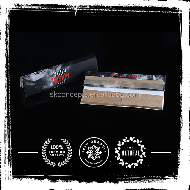 Custom rolling papers with tip no enclosure Tobacco rolling papers
