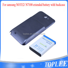 high capacity 6800mAh Long Life Battery for Samsung note 2 n7100 W/ Extended Rear Case