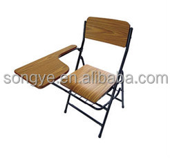 AP school chair with writing pad tablet arm folding chair with tablet