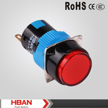 HBAN Red/Green/Yellow /Bule/White Round momentary or latching push button ,push button switch for kitchen hood