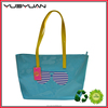 2015 Trendy durable women ladies teen messenger tote waterproof shiny mirror pvc beach bag