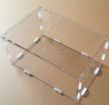 Clear square pet cage assembled pmma plexiglass acrylic rabbit cage