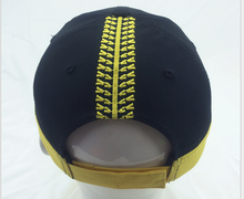 Match color yellow black brand baseball cap hat back embroidered trimming baseball cap Sunvisor