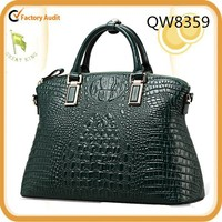 Qiwang Authentic Women Crocodile Bag 100% Genuine Leather Women Croco Handbag Wholesale QW8359 Free Shipping
