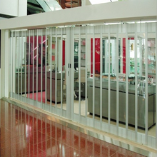 S12 security polycarbonate transparent rolling motorized shutter door