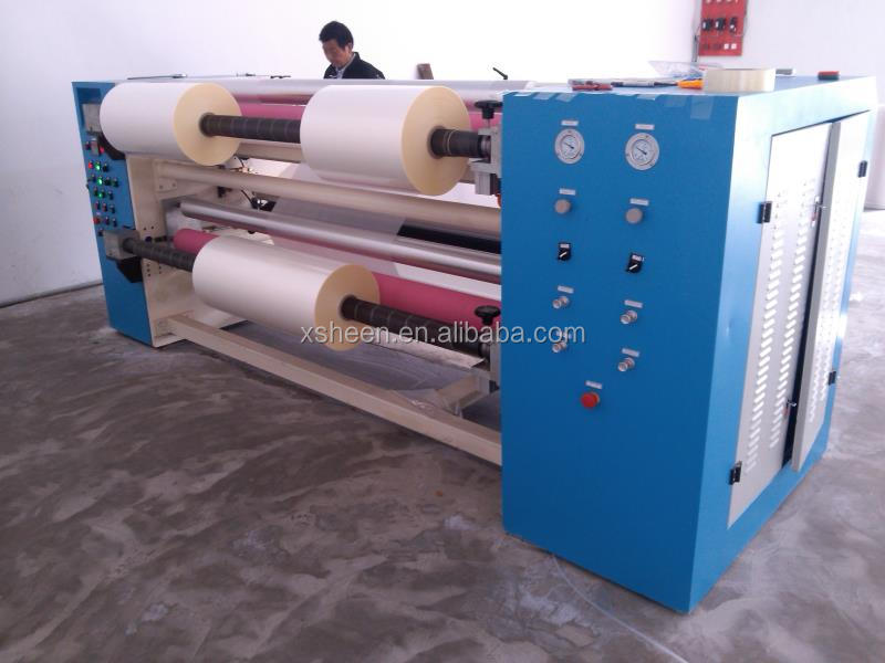 slitting machine is suitable for slitting and rewinding such various roll material as PE, BOPP, PET, CPP, CPE, PVC, aluminium f