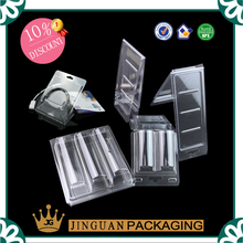 Free sample Free design -Professional customized plastic clear transparent trifold clamshell blister packaging