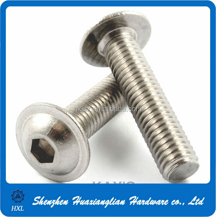 Stainless Steel Hexagon Socket Pan Wafer Head Cap Screws With Flange