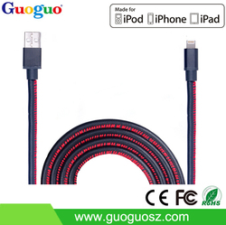 3 feet PU leather cable 8pin MFI