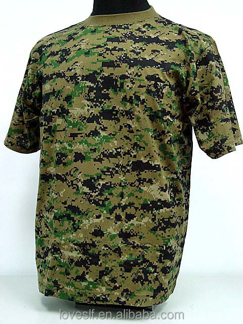 Wholesale multi colors army traning camouflage T-shirt factory supply