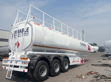 40000L carbon steel fuel tank semi trailer