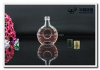 40ml empty mini fancy glass liquor bottle XO glass bottle with cap wholesale