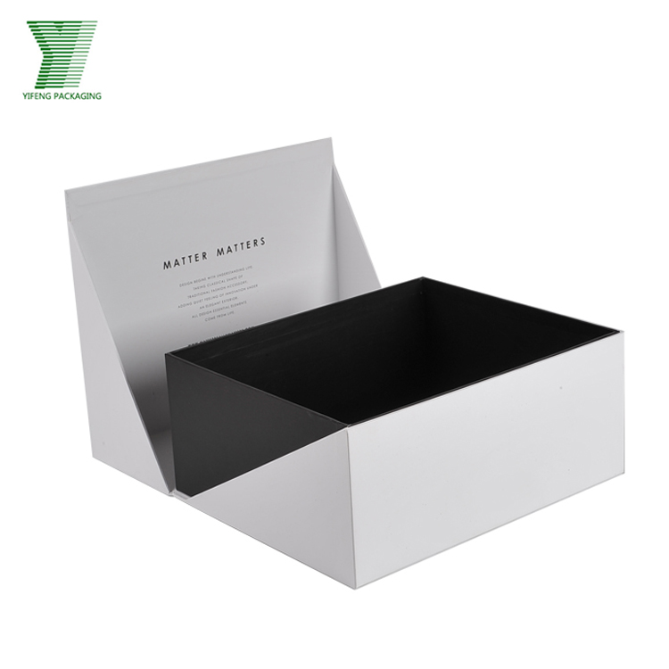 Big Size Shoe Packaging Clothes White Paper Customize Gift Boxes Set
