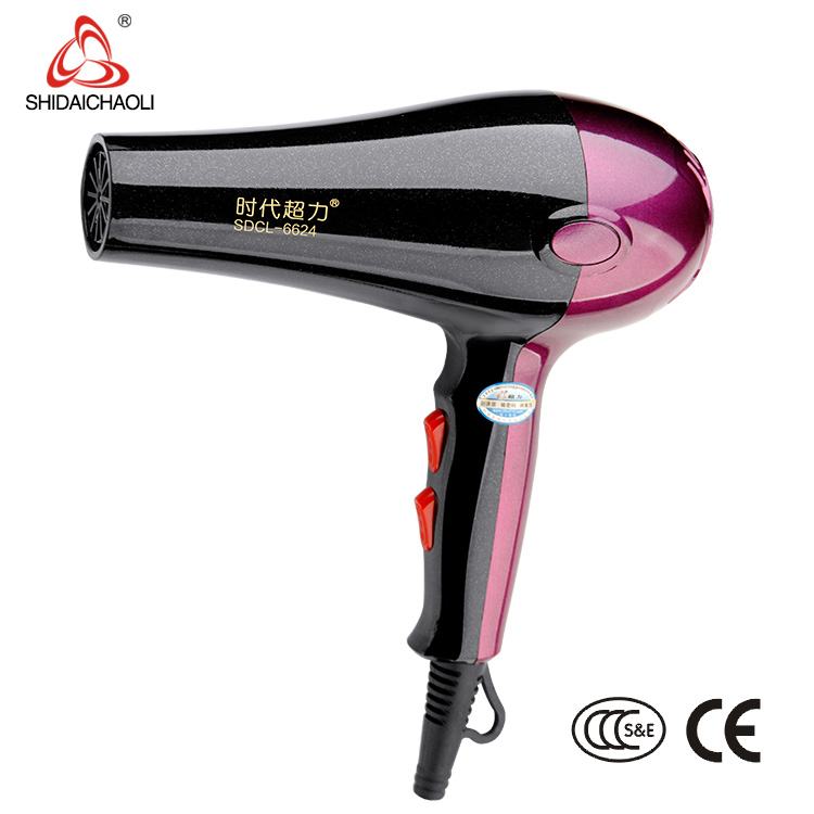 GuangDong Hair Dryer Manufacturer Hot Sale AC Motor Professional Hair Dryer 6624 Wholesale