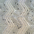 jacquard knit fabric for sweater 94%polyester 6%cotton