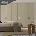 Ninety degree super high quality 6 doors wooden wardrobe