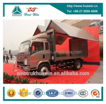 HOWO 4X2 Side Body Open Box Truck, Wing Open Truck Box