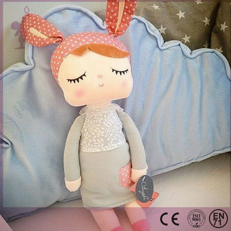Alibaba hot Plush Cute Stuffed Baby Kids Toys for Girls Birthday Christmas Gift Angela Rabbit Metoo Doll