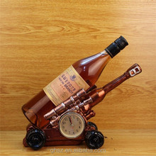 table decor luxury resin cannon clock wine display stand
