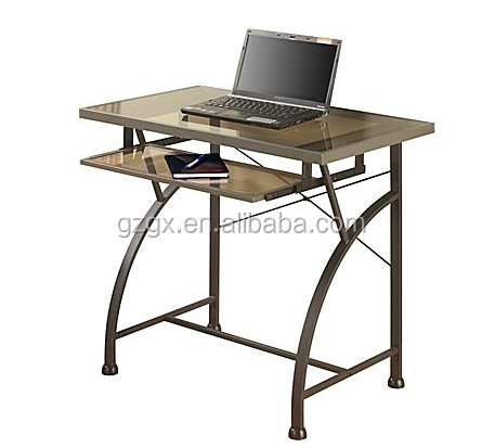 Factory direct sale Tribeca Black Glass computer desks