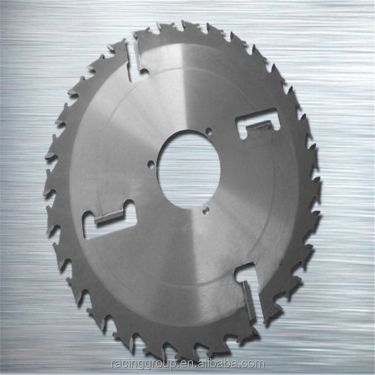 Anti-Kick-Back teeth carbide saw blade Shoulder thick kerf sawblades with rakers to cut wood