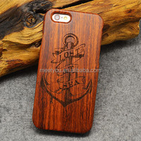 Laser engrave wood phone cases anchor shape custom wooden phone cases for iphone 4 4S 5C