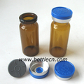 10ml amber glass vial, amber liquid medicine bottle, blue aluminum plastic seal