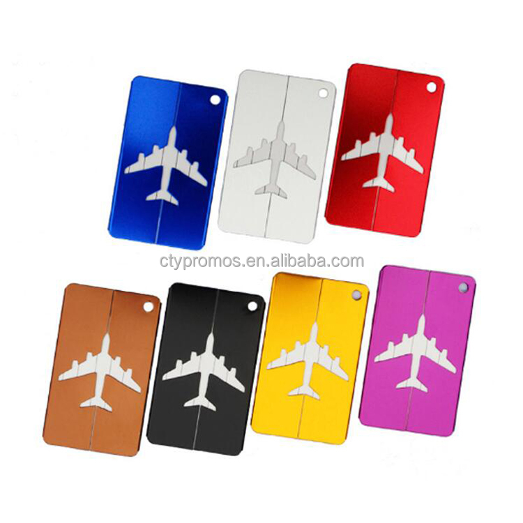 Promotion Customized Aluminum Alloy Airplane Travel Luggage Tag Wholesale