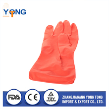Modern design protective flocklined rubber household latex gloves With Bottom Price