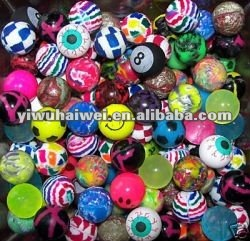 different sizes rubber bouncing ball from diameter 27mm to 60mm
