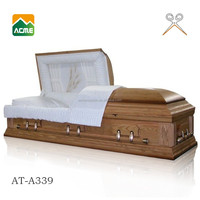 good quality funeral coffin factory casket decorations