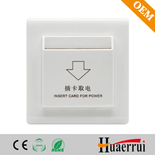 Hotel power control system insert card switch