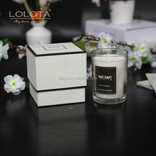 High end reasonable price 100% cotton wicks custom soy wax candle