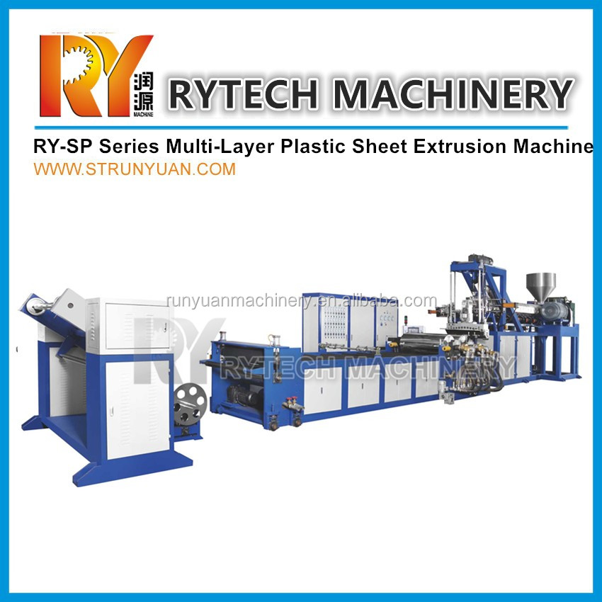 High Quality 3 Layers PP Sheet co extruding Machine