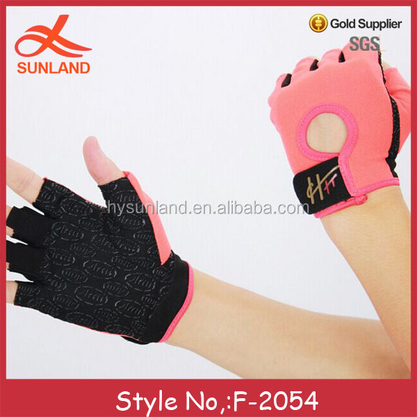 F-2054 new pink wholesale sport cycling fingerless gloves for women winter